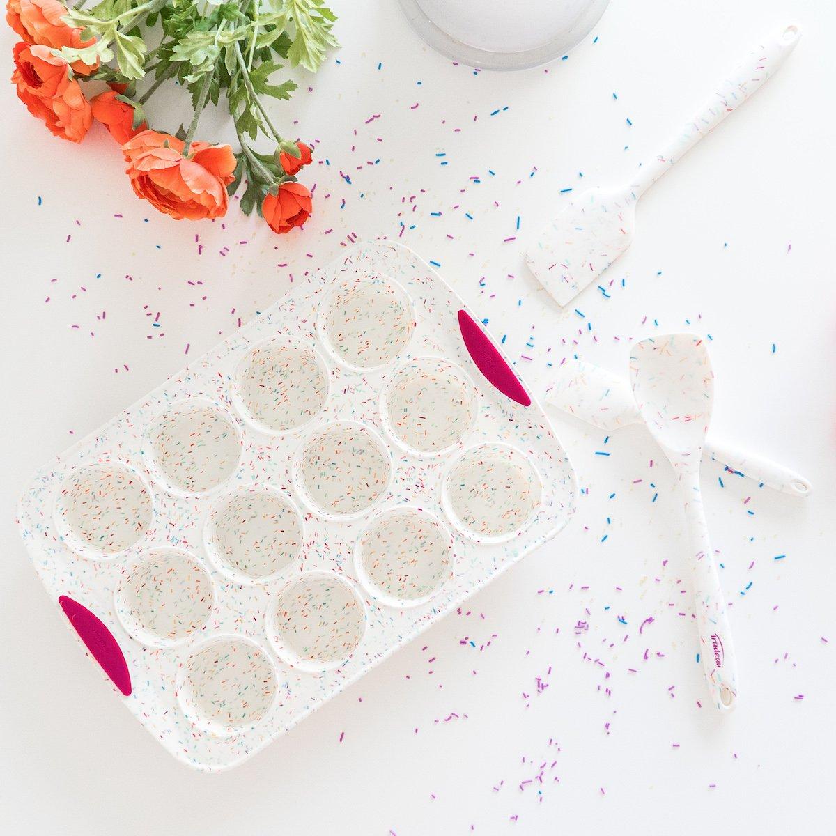 Confetti Silicone Muffin Pan 12-Cup by Trudeau