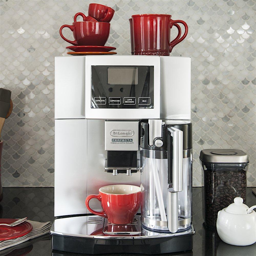 Delonghi Perfecta Espresso and Cappuccino Machine in Silver