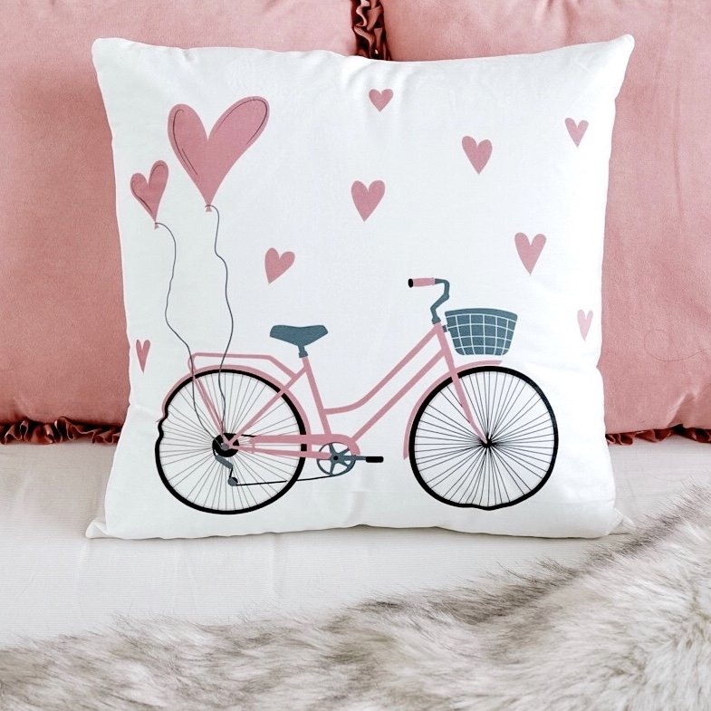 Whimsical Bicycle Cushion