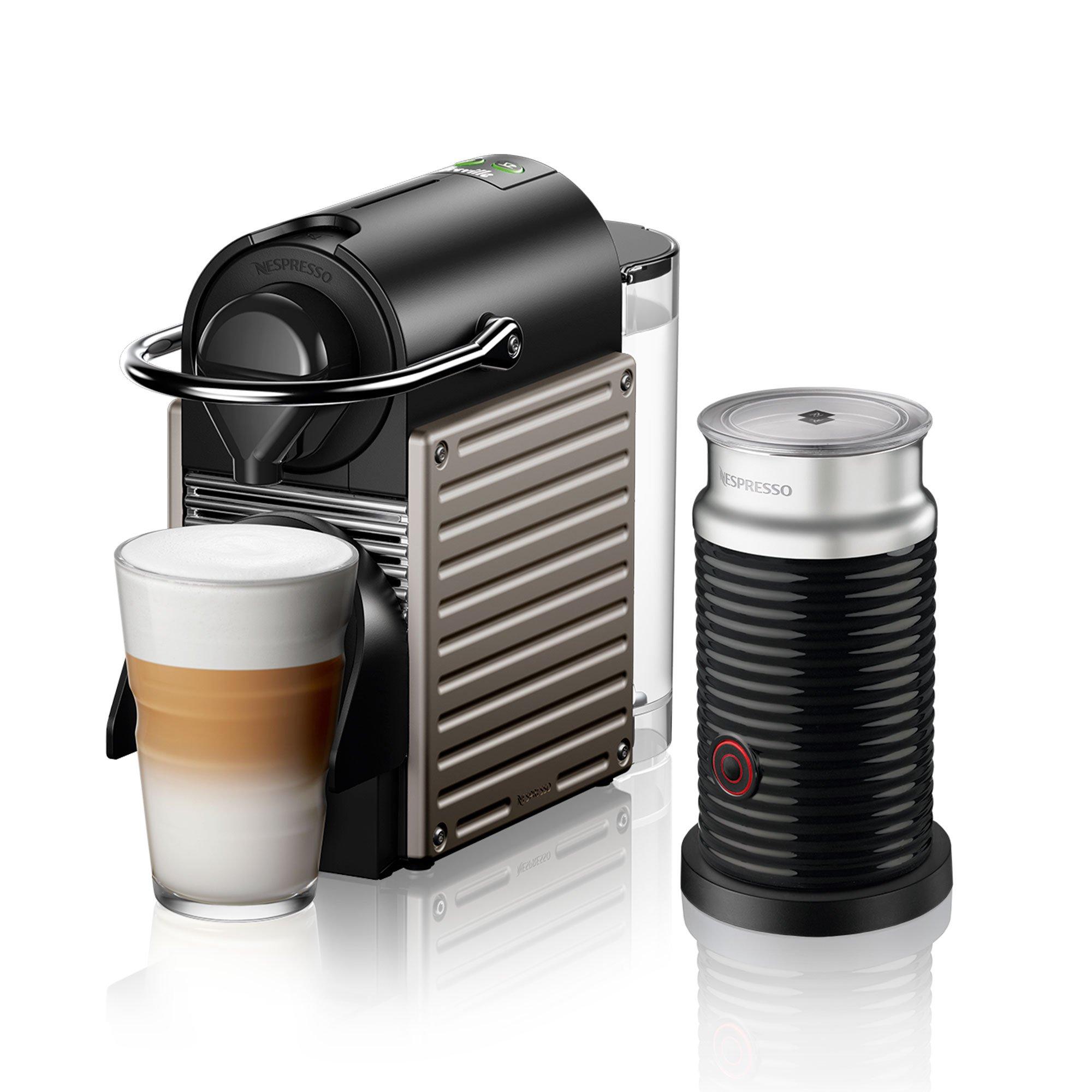 Pixie Electric Titan Nespresso Capsule Machine with Aeroccino by Breville