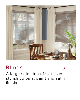 Brown custom Dining room corner custom window blinds by Hunter Douglas