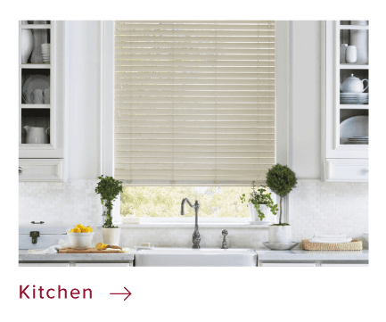 Kitchen custom window coverings