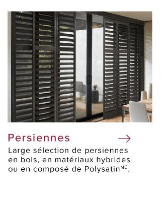 Persiennes modernes par Hunter Douglas pour les fenêtres du patio et de la salle à manger