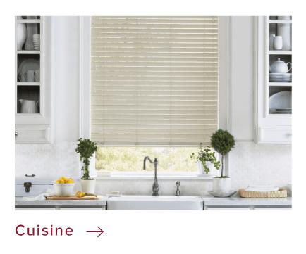 Habillages de fenêtres sur mesure pour la cuisine
