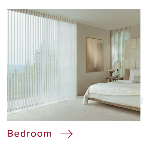 Bedroom custom window coverings