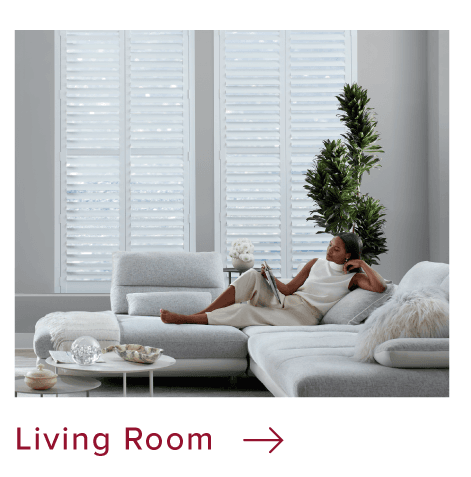 Living Room custom window coverings